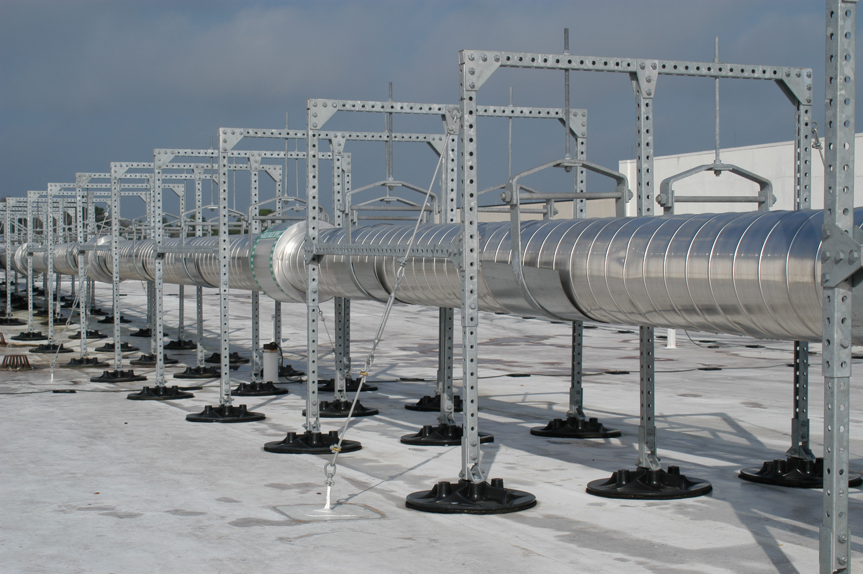roof pipe supports