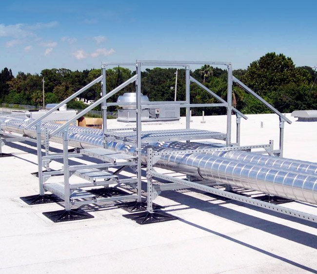 Roof Equipment Supports : Roof support system flat systems phpsd