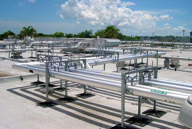 Rooftop Pipe Support