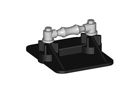 SS8 RL low profile rooftop pipe support
