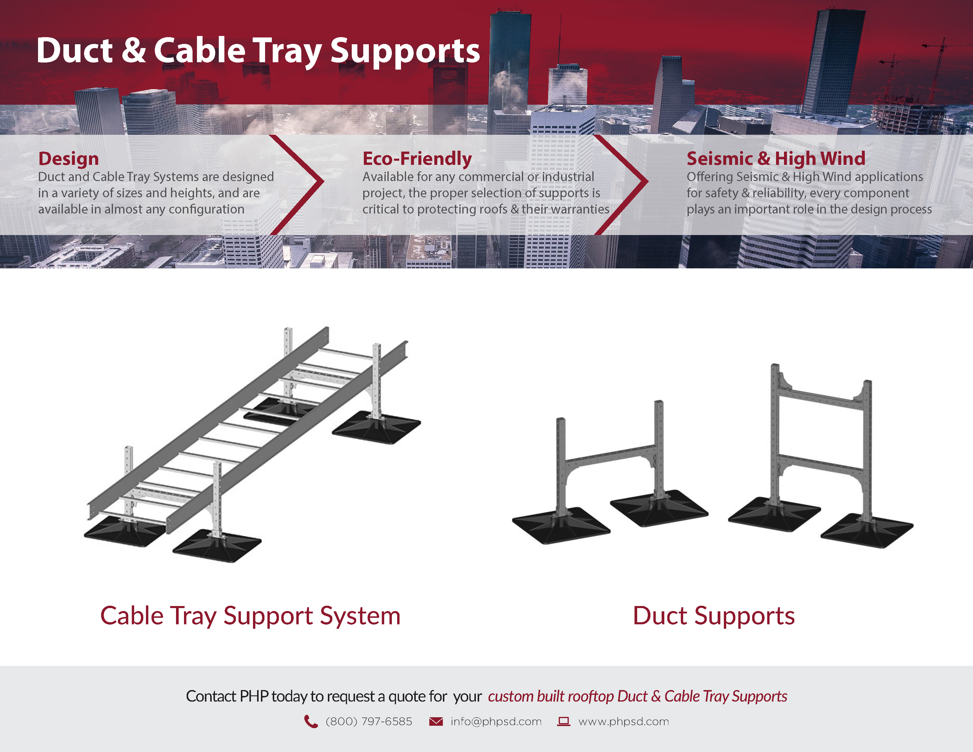 PHP Duct & Cable Tray Support Product Flyer