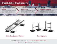 PHP Duct & Cable Tray Support - Industrial Engineering Drawing