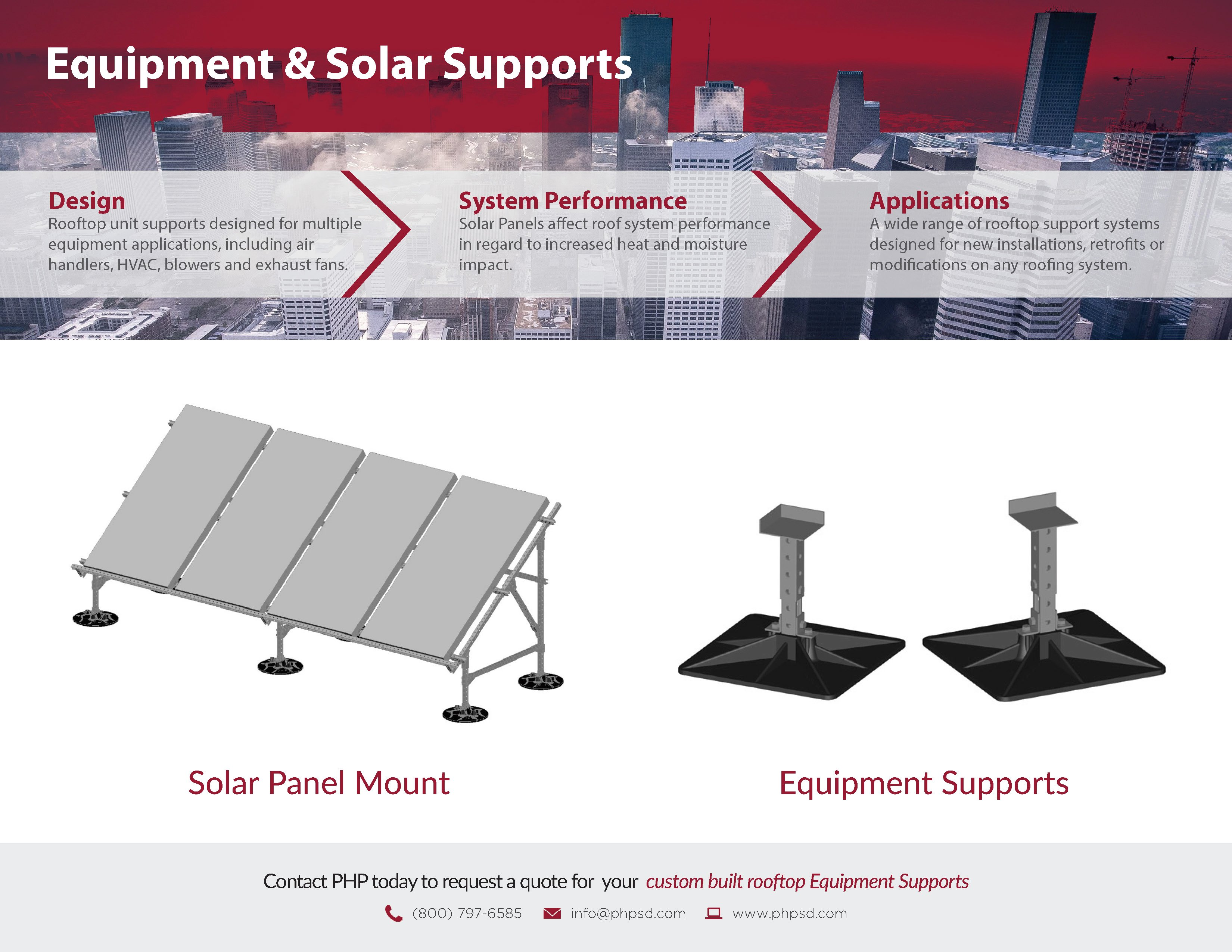 PHP Equipment & Solar Support Product Flyer