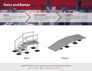 PHP Stairs & Ramps Product Flyer - Industrial Engineering Drawing