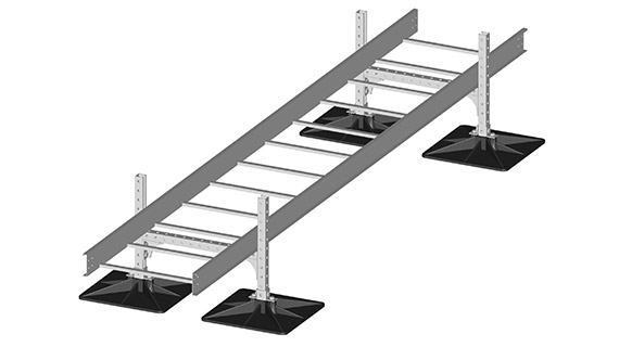 Cable tray rooftop