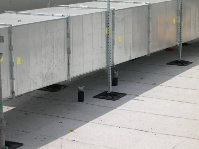 Roof Support System for Jails and other government buildings