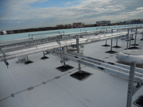 Rooftop Support System for Hotels