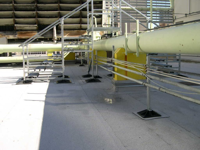 roof support system for Exxon Mobil Facility in Houston