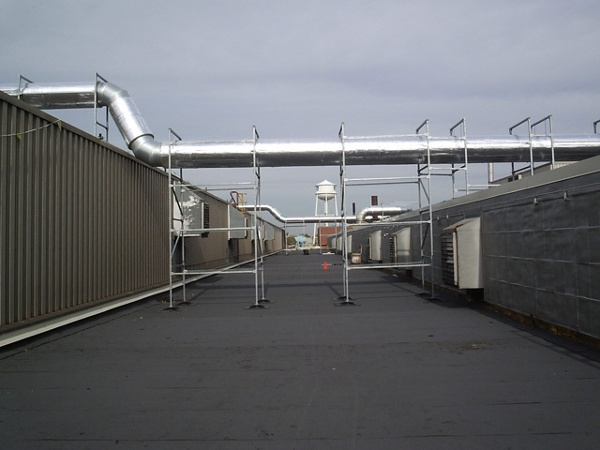 Industrial Roof support system for GM Powertrain Facility in Warren