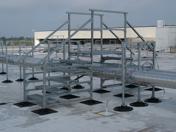 roof support system for industrial manaufacturers