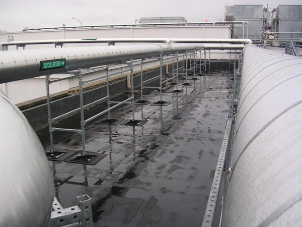 manufacturing facility roof support system for Dannon
