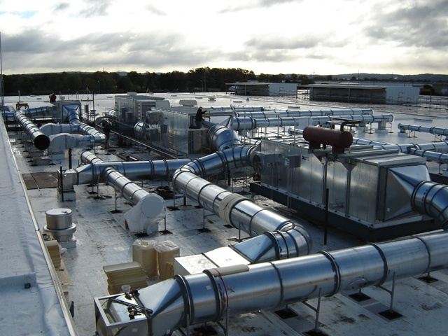 rooftop support system for Kraft Foods Facility