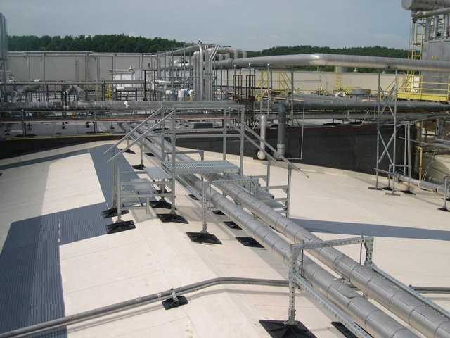manufacturing facility roof support system for Tyson