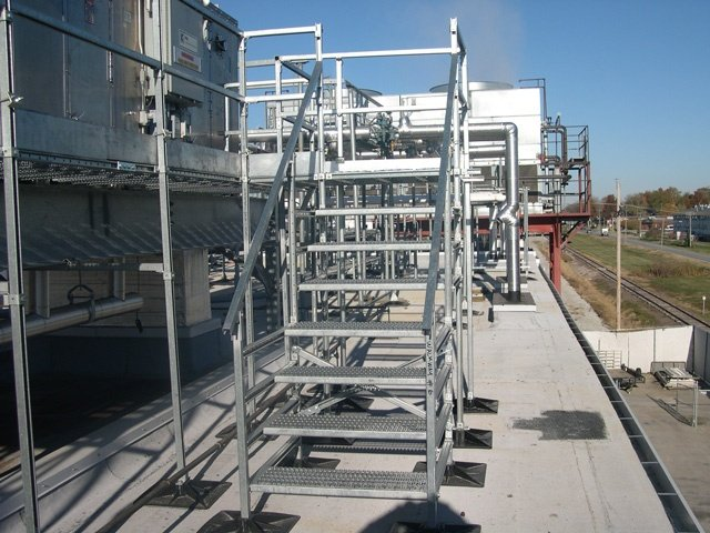 manufacturing facility rooftop supports