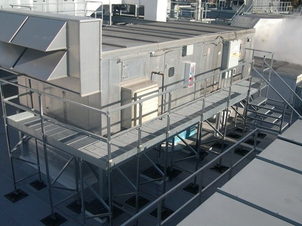Roof Support System for manufacturing plants