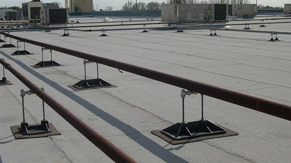 Gas Pipe Supports With Roller For Rooftops Pp10