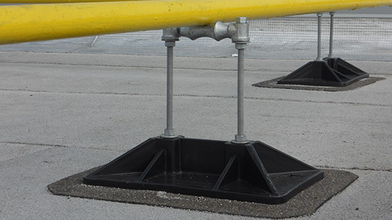 PP10 with roller roof sopport for gas pipe up to 3.5