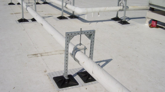 PS 1-2 gas pipe support for roof