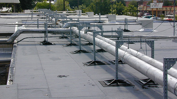 PSE 2-2 support for hydronic, refrigerant, gas or steam pipes