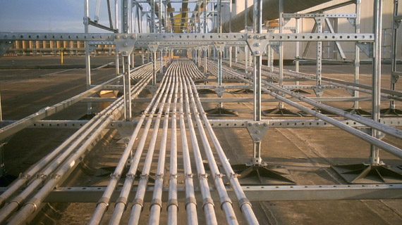 PSL gas pipe support