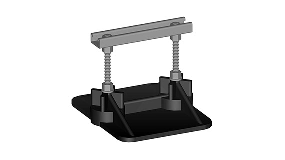 SS8-C Pipe Support Stand - pipes up to 2.5