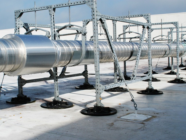 Wind Resistant Pipe Supports Earthquake Resistant Design
