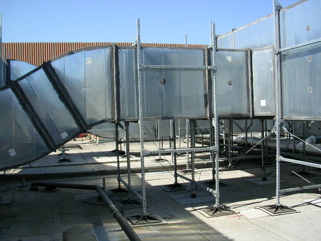 Rooftop Support System for high winds